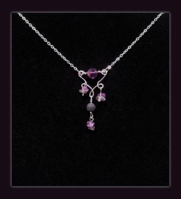 Phantom Quartz Gemstone Diffuser Necklace