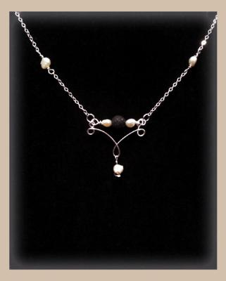 Ivory Fresh Water Pearl Gemstone Diffuser Necklace