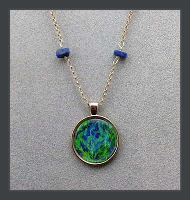 Clarity Art Print Pendant and Gemstone Necklace