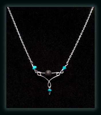 Turquoise Diffuser Necklace