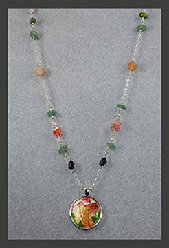 Hummingbird Gemstone Necklace