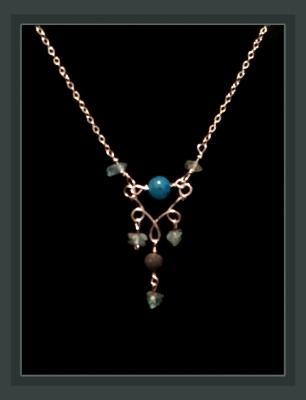 Rutilated Quartz and Apatite Gemstone Diffuser Necklace