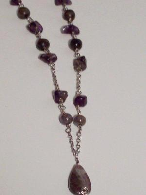 Amethyst and Labradorite Necklace