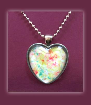Heart Pendant Necklace, Love and Beauty Abstract Art Print, Fine Art Print