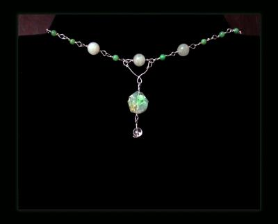 Chrysoprase Pendant Gemstone Necklace