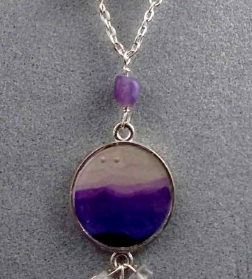 Lavender Mountains Gemstone Necklace