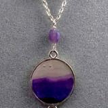 Lavender Mountains Gemstone Necklace