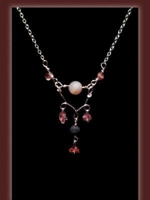 Aurora Luster Druzy Quartz Gemstone Diffuser Necklace